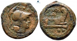 after 211 BC. Uncertain mint. Triens Æ