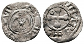 Anonymous Bishops circa AD 1100-1200. Valence. Denier AR