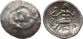 EASTERN EUROPE. Imitations of Alexander III 'the Great' of Macedon (3rd-2nd centuries BC). Drachm. Obv: Stylized head of Herakles right, wearing lion ...