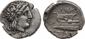 BITHYNIA. Kios. Half Siglos or Hemidrachm (Circa 350-300 BC). Miletos, magistrate. Obv: KIA. Laureate head of Apollo right. Rev: MIΛH / TΟΣ. Prow of g...