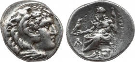 KINGS OF MACEDON. Alexander III 'the Great' (336-323 BC). Drachm. Magnesia ad Maeandrum. Obv: Head of Herakles right, wearing lion skin. Rev: AΛΕΞΑΝΔΡ...