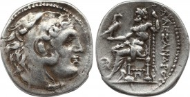 IONIA. Kolophon. Drachm (Circa 310-301 BC). In the Name of Alexander III of Macedon. Obv: Head of Herakles right, wearing lion skin. Rev: AΛEΞANΔPOY. ...