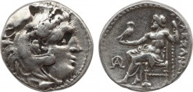 KINGS OF MACEDON. Alexander III 'the Great' (336-323 BC). Drachm. Mylasa. Obv: Head of Herakles right, wearing lion skin. Rev: AΛΕΞΑΝΔΡΟΥ. Zeus seated...