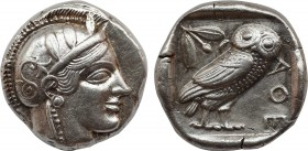 ATTICA. Athens. Tetradrachm (Circa 470-465 BC). Transitional issue. Obv: Helmeted head of Athena right, with frontal eye. Rev: AΘE. Owl standing right...