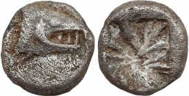 MYSIA. Kyzikos. Obol (Circa 600-550 BC). Obv: Head of tunny right. Rev: Incuse square punch. Von Fritze IX 2. Condition: Very fine. Weight: 0.63 g. Di...