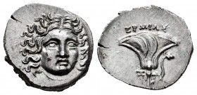 Kingdom of Macedon. Perseus. Drachm. 175-170 BC. Pseudo-Rhodas. Magistrate: Ermias. (SNG Keckman-793-795 Thessalia). (Sng Cop-358). Anv.: Helios head ...