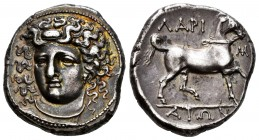 Thessaly. Larissa. Stater. 356-342 BC. (BCD Thessaly II 308). (HGC 4, 409). (L-S Type 2, Series A, dies O2/R2). Anv.: Head of the nymph Larissa facing...