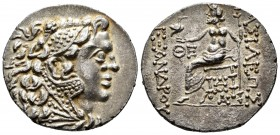 "Kingdom of Macedon. Alexander III, ""The Great"". Tetradrachm. 125-70 BC. Odessos. (Price-1676). (Müller-956). Anv.: Head of Herakles to right wearing a..."