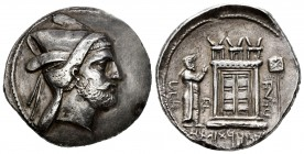 Kings of Persis. Bagadat (Bayadad). Tetradrachm. Early 3rd century BC. Istakhr (Persepolis). (Sunrise-560). (Alram-519). Anv.: Head right, with short ...