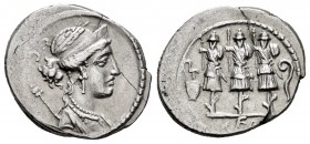 Cornelius. Faustus Cornelius Sulla. Denarius. 56 BC. Rome. (Ffc-643). (Craw-426/3). (Cal-500). Anv.: Laureate and diademed head of Venus right, sceptr...