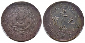 China - Anhwei 10 Cash, 1902-06, AE Ref : Y#36.1 Conservation : PCGS VF Detail