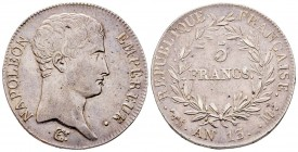 France Premier Empire 1804-1814 5 Francs, Toulouse, AN 13 M, AG 25 g. Ref : G.581 Conservation : TTB/SUP