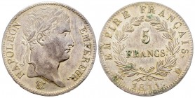 France Premier Empire 1804-1814 5 Francs, Lyon, 1811 D, AG 25 g. Ref : G.584 Conservation : Superbe