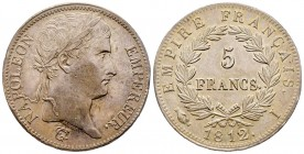 France Premier Empire 1804-1814 5 Francs, Limoges, 1812 I, AG 25 g. Ref : G.584 Conservation : Superbe