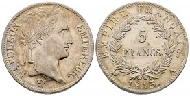 France Premier Empire 1804-1814 5 Francs, Paris, 1813 A, AG 25 g. Ref : G.584 Conservation : Superbe