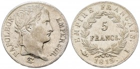 France Premier Empire 1804-1814 5 Francs, Limoges, 1813 I, AG 25 g. Ref : G.584 Conservation : Superbe