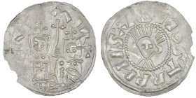 Czech Republic. Bohemia. Jaromir, 1003, 1004 - 1012, 1033 - 1034. AR Denar (19mm, 1.40 g). Prague mint. [+]IΛR[O]MIR+, two bust facing, cross in betwe...