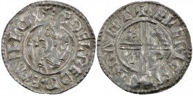 England. Aethelred II. 978-1016. AR Penny (20mm, 1.30 g, 3h). Crux type (BMC iiia, Hild. C). Cambridge mint; moneyer Ælfric. Struck circa 991-997. + Æ...