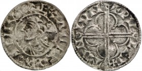 England. Cnut the Great. 1016-1035. AR Penny (19mm, 0.88 g, 3h). Quatrefoil type (BMC viii, Hild. E). London mint; moneyer Wulfstan. Struck circa 1016...