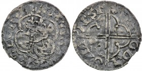 England. Cnut the Great. 1016-1035. AR Penny (19mm, 0.75 g, 12h). Quatrefoil type (BMC viii, Hild. E). Winchester mint; moneyer Sigeboda. Struck circa...