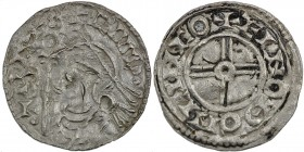 England. Cnut the Great. 1016-1035. AR Penny (17mm, 0.94 g, 9h). Short Cross type (BMC xvi, Hild. H). Lincoln mint; moneyer Ælnoth. Struck circa 1029-...