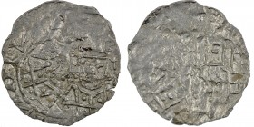 Germany. Duchy of Bavaria. Henry IV 1084-1106. AR Denar (18mm, 0.62g). Regensburg mint. Crowned bust facing / City view behind wall. Hahn 60 5-7 var. ...