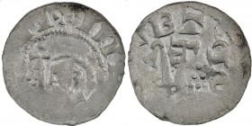 Germany. Diocese Bremen. Adalbert 1043-1066. AR Denar (18mm, 0.89g). Head right with crosier in front / Two keys, six pellets in triangle. Dbg. 1777; ...