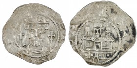 Germany. Archdiocese Cologne. Heinrich IV 1079-1084. AR Denar (18mm, 0.79g). Boppard mint? [+]HEINRICV[SEX], Crowned bust facing, spear(?) left, scept...