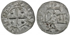Germany. Archbishopric of Soest. Imitation of Cologne. After 1080. AR Denar (18mm, 1.20g). Soest mint. ODDOXNIANVINH, cross with pellet in each angle ...