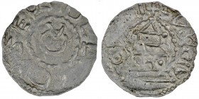 Switzerland. Diocese of Chur. Ulrich I von Lenzburg 1002-1026. AR Denar (19mm, 1.08g). Chur mint. +DEL[RI]CVSE-PV(?), monogram consisting of O and V /...