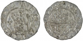 The Netherlands. Utrecht. Wilhelm de Ponte 1054-1076. AR Denar (16mm, 0.63g). Bishop facing with crosier and staff terminating in cross, three pellets...