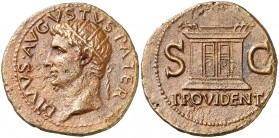 (22-30 d.C.). Octavio Augusto. As. (Spink 1789) (Co. 228) (RIC. 81, de Tiberio). 9,68 g. MBC+.