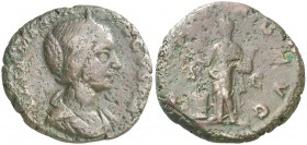 (218-220 d.C.). Julia Maesa. As. (Spink 7768) (Co. 32) (RIC. 415). 9,08 g. Rara. BC+.