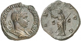 (251-252 d.C.). Volusiano. Sestercio. (Spink 9790) (Co. 74) (RIC. 256a). 20,79 g. EBC-/MBC+.