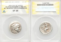 DANUBE REGION. Balkan Tribes. Imitating Alexander III the Great. Ca. 3rd-2nd centuries BC. AR tetradrachm (26mm, 11h). ANACS VF 35. Celtic issue imita...
