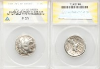 DANUBE REGION. Balkan Tribes. Imitating Alexander III the Great. Ca. 3rd-2nd centuries BC. AR tetradrachm (26mm, 10h). ANACS Fine 15. Celtic issue imi...
