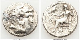 MACEDONIAN KINGDOM. Alexander III the Great (336-323 BC). AR tetradrachm (27mm, 16.69 gm, 2h). About VF, scrape. Posthumous issue of Babylon II, under...