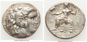 MACEDONIAN KINGDOM. Alexander III the Great (336-323 BC). AR tetradrachm (26mm, 16.87 gm, 12h). Choice VF, porosity. Posthumous issue of Babylon I, un...