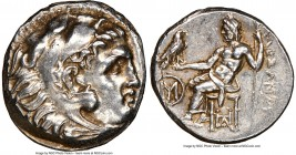 MACEDONIAN KINGDOM. Alexander III the Great (336-323 BC). AR drachm (17mm, 4.32 gm, 1h). NGC MS 4/5 - 5/5. Posthumous issue of Sardes, ca. 319-315 BC....