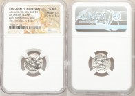 MACEDONIAN KINGDOM. Alexander III the Great (336-323 BC). AR drachm (18mm, 4.28 gm, 12h). NGC Choice AU 5/5 - 5/5. Early posthumous issue of Abydus(?)...