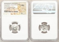 MACEDONIAN KINGDOM. Alexander III the Great (336-323 BC). AR drachm (17mm, 11h). NGC AU. Posthumous issue of Pamphylia, Side, ca. 323-317 BC. Head of ...