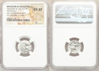 MACEDONIAN KINGDOM. Alexander III the Great (336-323 BC). AR drachm (17mm, 12h). NGC Choice XF. Posthumous issue of Magnesia ad Maeandrum, ca. 319-305...