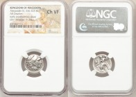 MACEDONIAN KINGDOM. Alexander III the Great (336-323 BC). AR drachm (17mm, 11h). NGC Choice VF. Posthumous issue of Magnesia as Maeandrum, ca. 323-319...