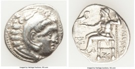 MACEDONIAN KINGDOM. Alexander III the Great (336-323 BC). AR drachm (19mm, 4.40 gm, 12h). VF. Posthumous issue of Colophon, ca. 319-310 BC. Head of He...