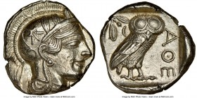 ATTICA. Athens. Ca. 440-404 BC. AR tetradrachm (25mm, 17.20 gm, 2h). NGC Choice AU 5/5 - 4/5, brushed. Mid-mass coinage issue. Head of Athena right, w...