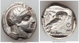 ATTICA. Athens. Ca. 440-404 BC. AR tetradrachm (26mm, 17.19 gm, 1h). Choice VF. Mid-mass coinage issue. Head of Athena right, wearing crested Attic he...