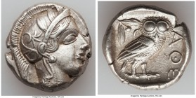 ATTICA. Athens. Ca. 440-404 BC. AR tetradrachm (24mm, 17.17 gm, 1h). XF. Mid-mass coinage issue. Head of Athena right, wearing crested Attic helmet or...