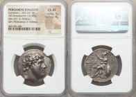 PERGAMENE KINGDOM. Eumenes I (263-241 BC). AR tetradrachm (31mm, 16.88 gm 12h). NGC Choice XF 5/5 - 4/5. Laureate head of Philetairos right / ΦIΛETAIΡ...