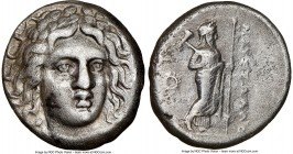 CARIAN SATRAPS. Maussollus (377-353 BC). AR drachm (15mm, 11h). NGC VF, Fine Style. Laureate head of Apollo facing, turned slightly right, hair parted...