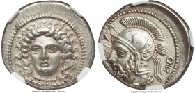 CILICIA. Tarsus. Pharnabazus, as Satrap (380-374/3 BC). AR stater (24mm, 10.51 gm, 10h). NGC AU 4/5 - 4/5. Ca. 380-379 BC. Head of female (Arethusa?) ...